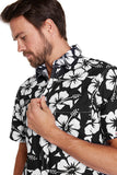 Okanui Classic Shirts - Hibiscus Black - NEW FIT