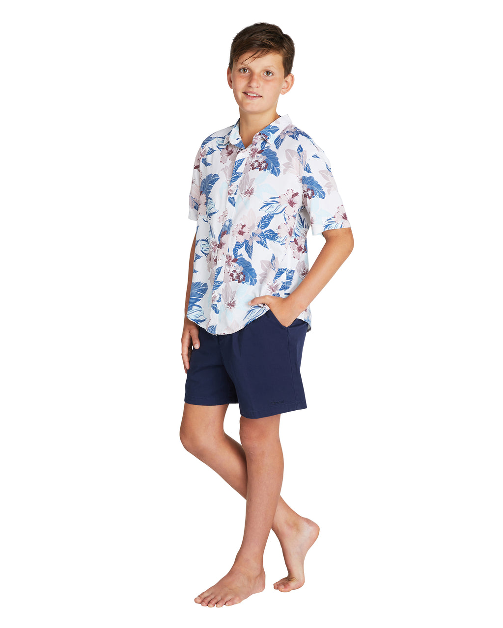 Kids S/S Shirt - Farrelly - Natural - 100% Rayon