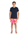 Kids Swim Short - Way Back When - Retro Pink