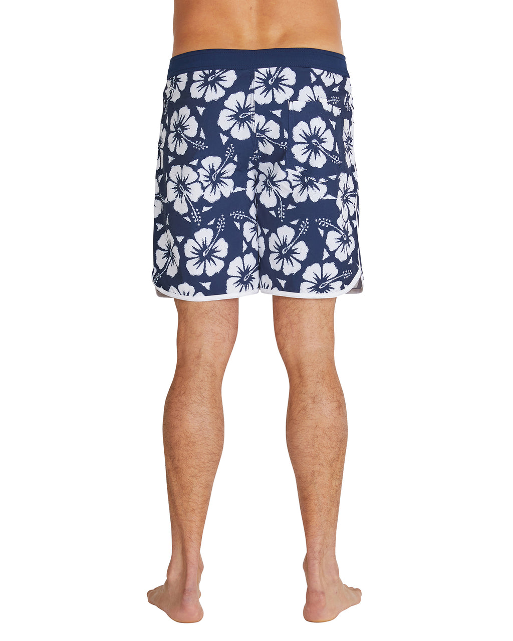 Board Shorts - Retro Boardrider - Hibiscus Navy