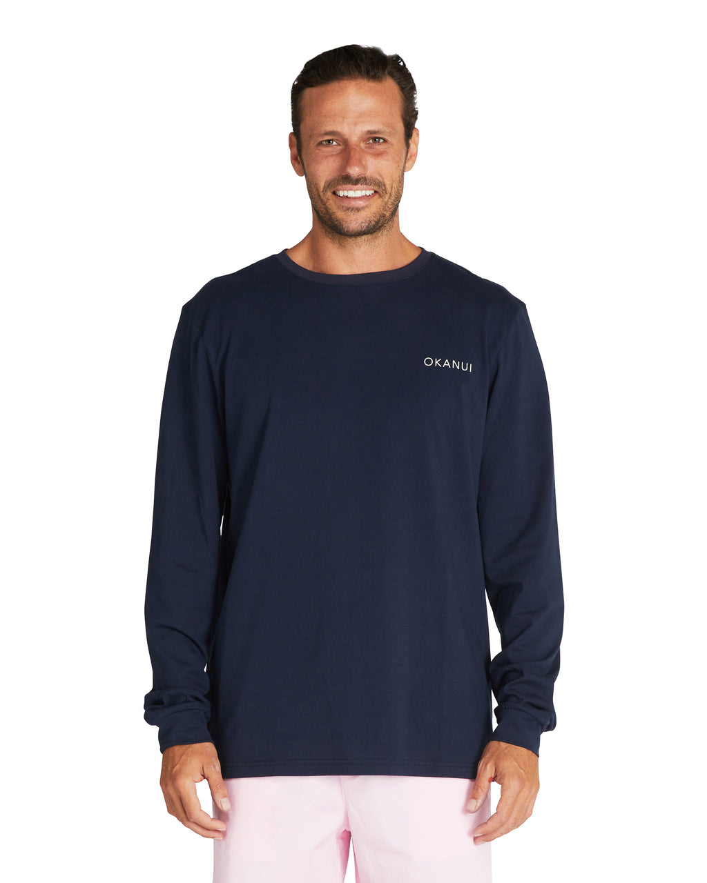 L/S T'S - Waves - Navy
