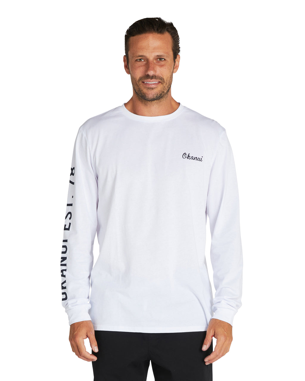 L/S T'S - Long Board - White