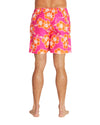 Swim Short - Way Back When - Retro Pink