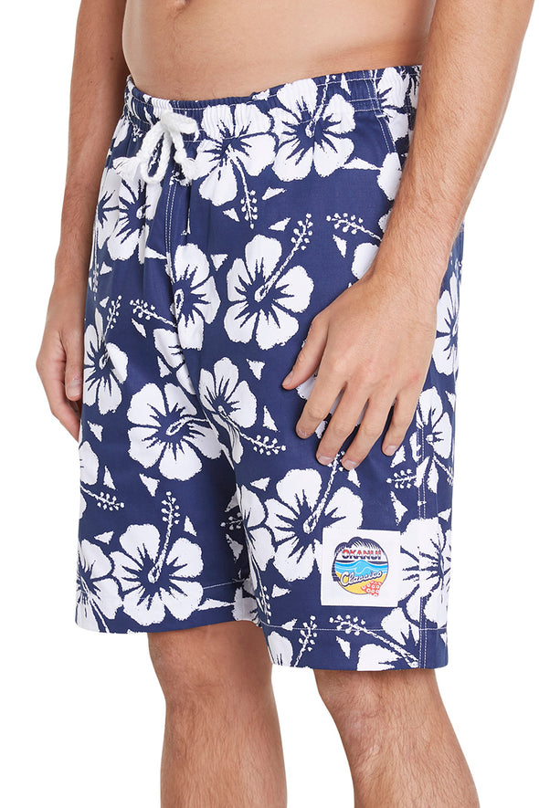 Classic Shorts - Hibiscus Navy