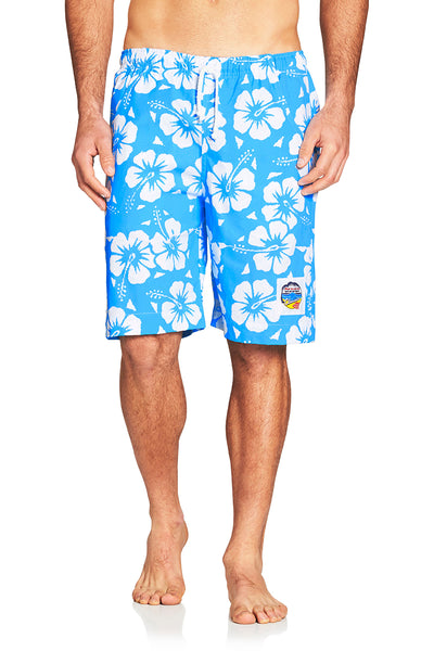 Boardies- Hibiscus Sky Blue