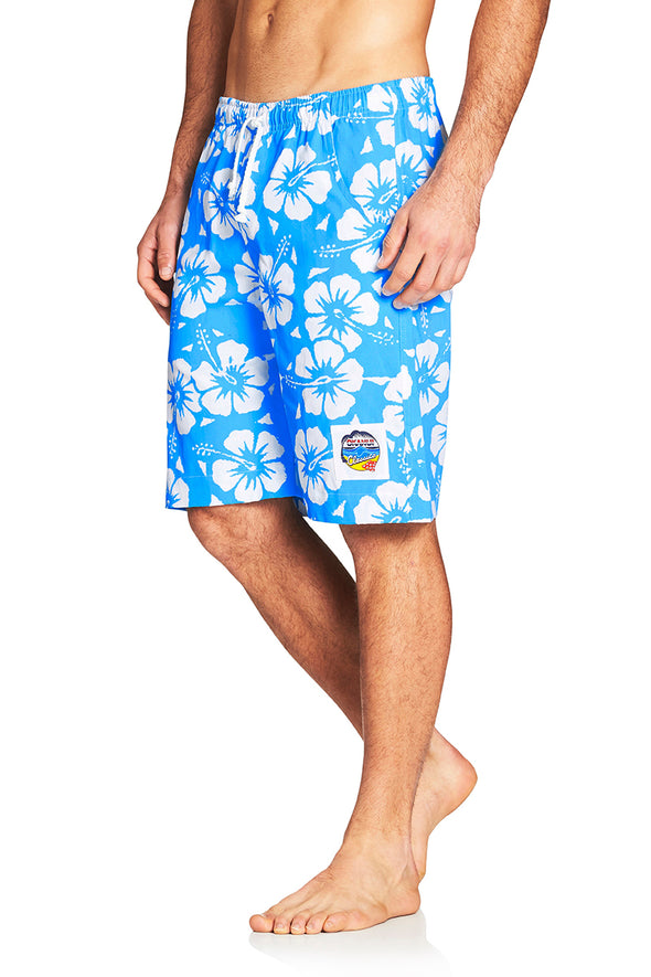 Classic Shorts- Hibiscus Sky Blue