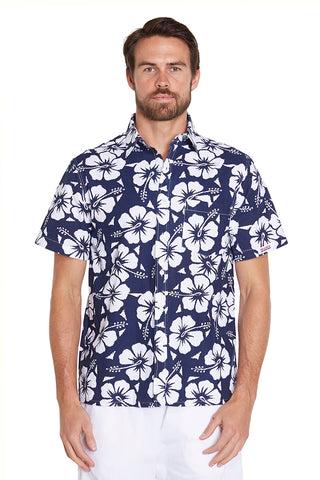 Classic Shirts - Hibsicus Navy - NEW FIT