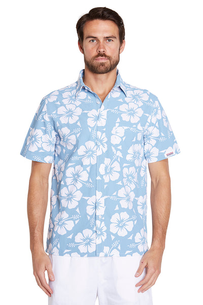 Classic Shirts - Hibiscus Steel - NEW FIT