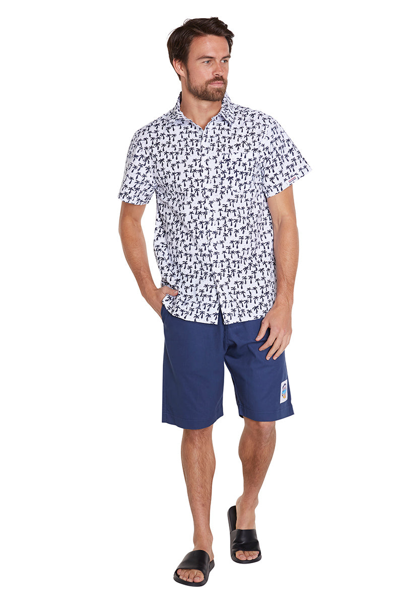 Classic Shirts - Palm Trees - Navy/White - NEW FIT