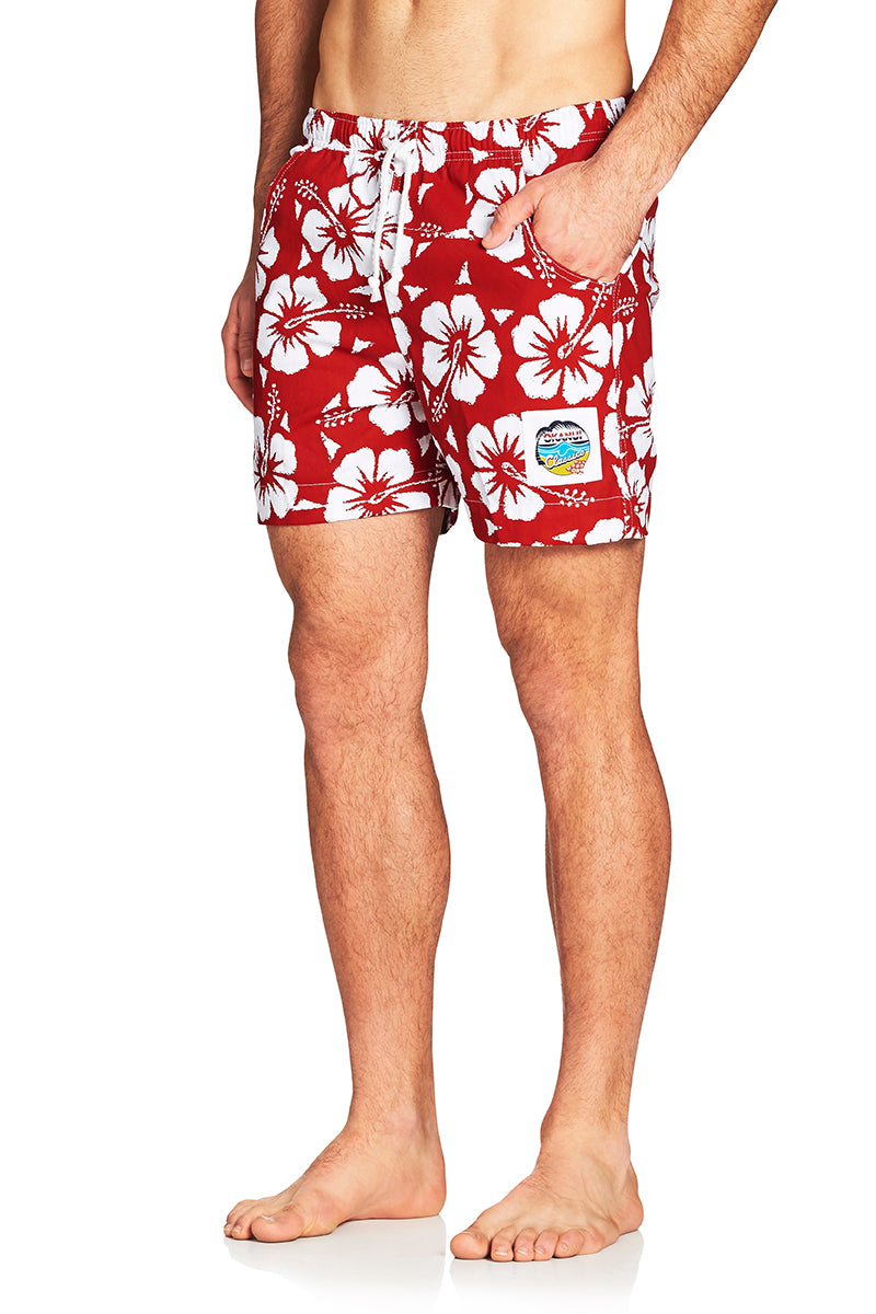 Classic Short Shorts - Hibiscus Red