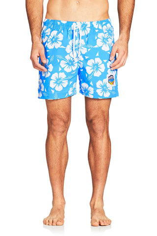 Short Shorts - Hibiscus Sky Blue