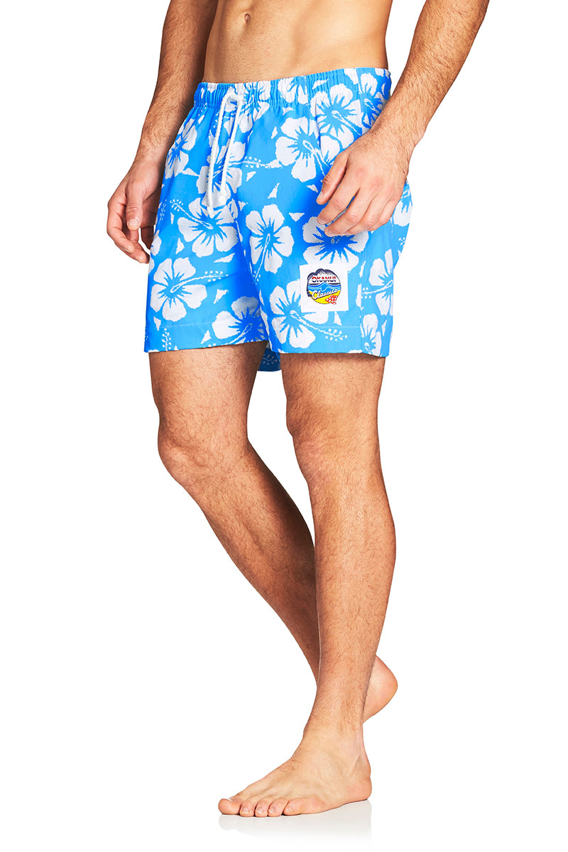 Classic Short Shorts - Hibiscus Sky Blue