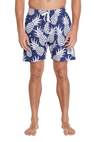 Short Shorts - Pineapple Navy