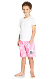 Kids Boardies Hibiscus Pale Pink Side