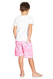 Kids Boardies Hibiscus Pale Pink Back
