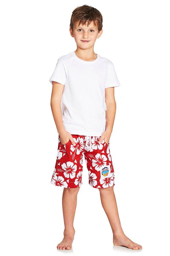 Kids Classic Shorts - Hibiscus Red