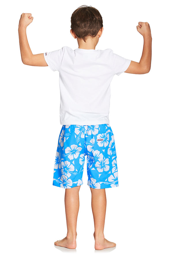 Kids Classic Shorts - Hibiscus Sky Blue
