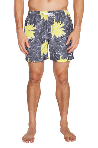 Swim Short - Spring Leaves - 16""