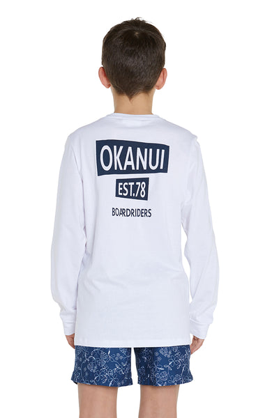 Kids L/S T shirt - White EST 78