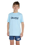 Kids T's - Light Blue Okanui Logo