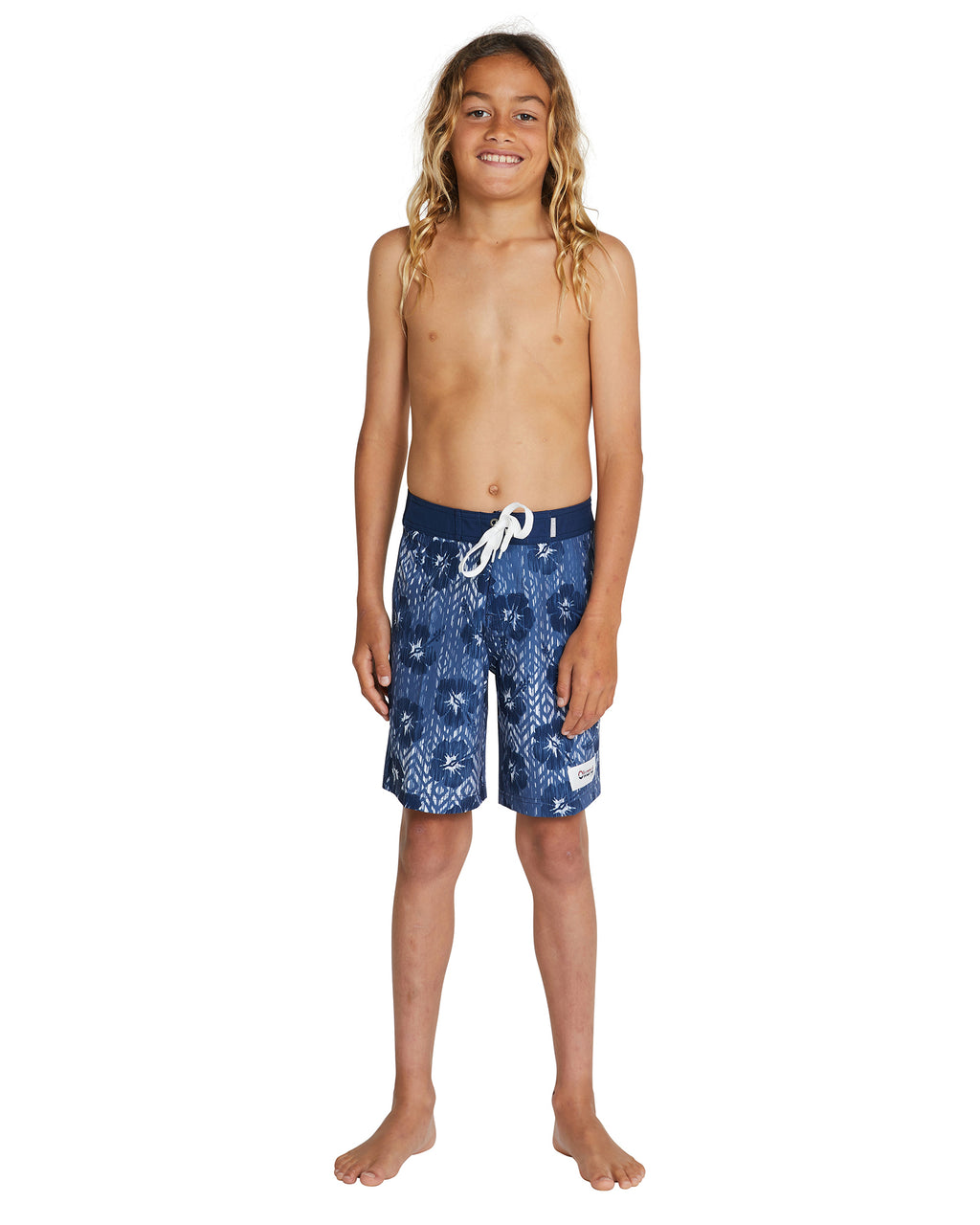 Kids Board Shorts - Ikat Navy Boardrider