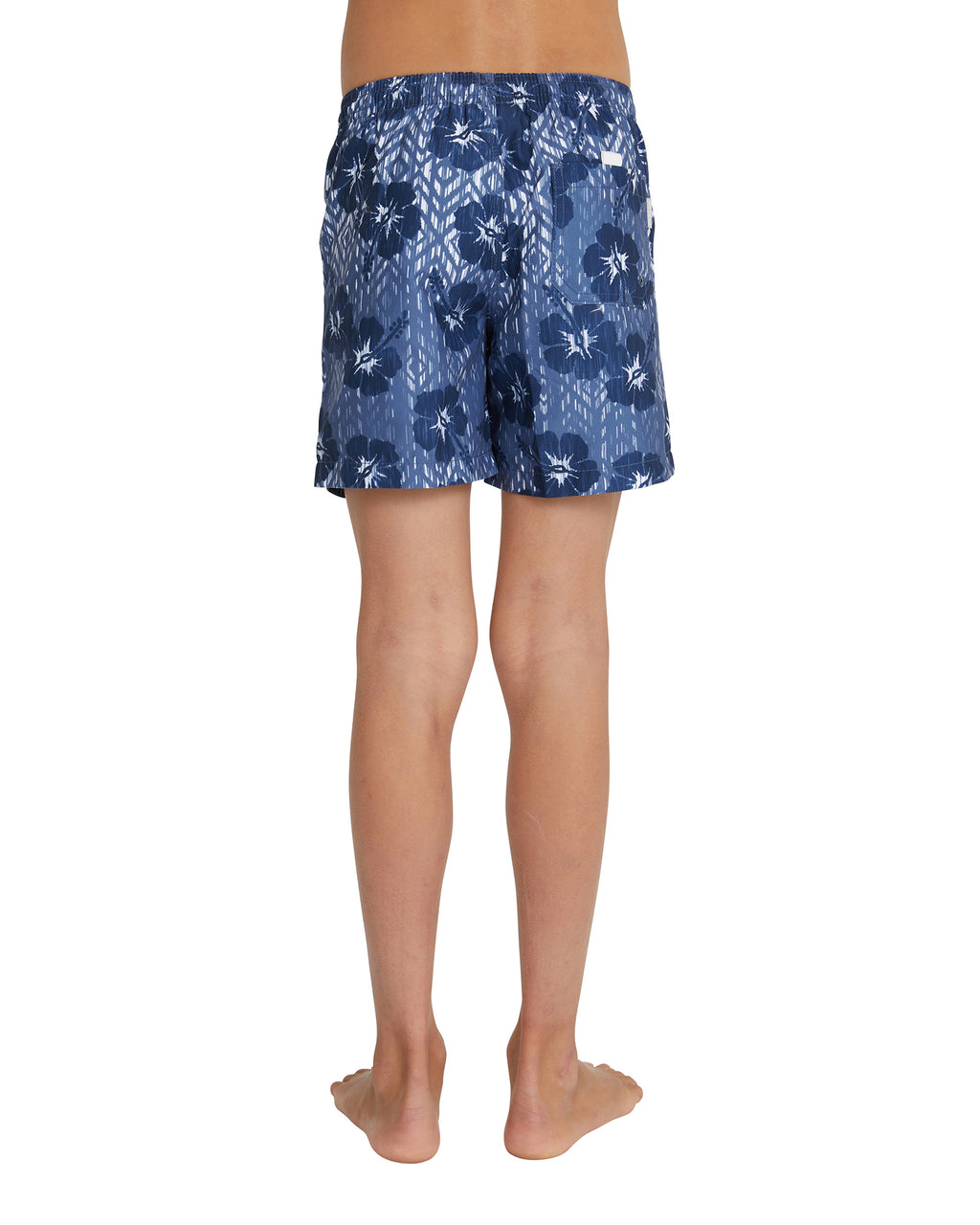 Kids Swim Short - Ikat - Navy