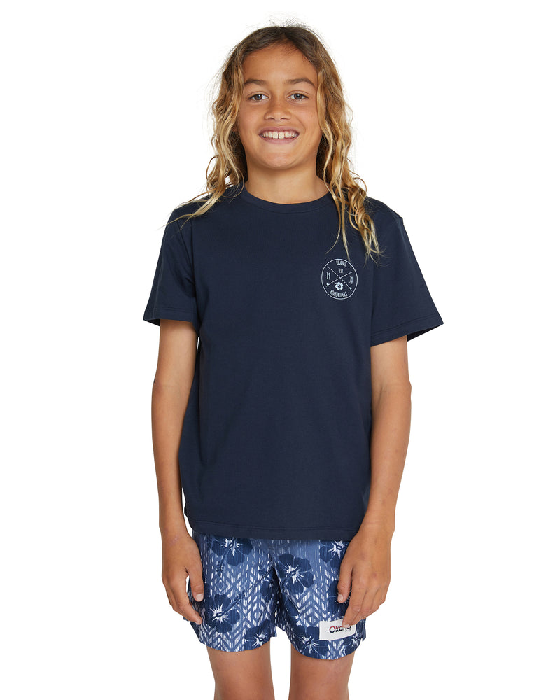 Kids T's - Club Rider - Navy