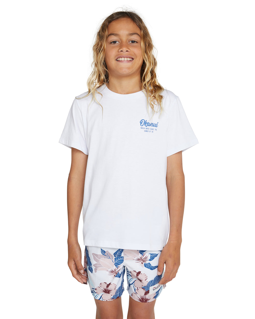 Kids T'S - Ocean Rhythm - White