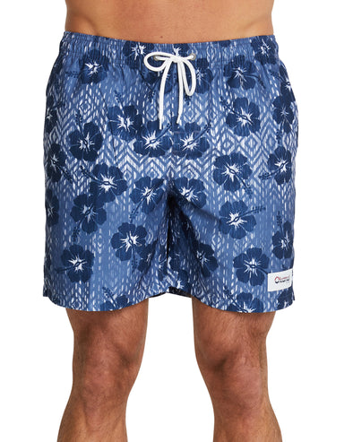 Swim Short - Ikat - Navy - 17""