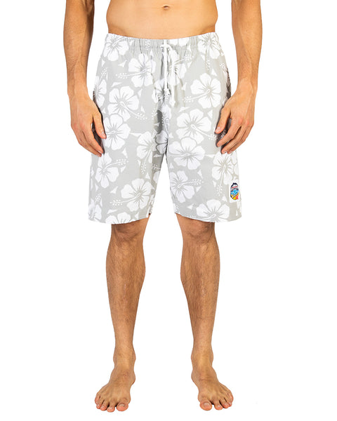 Classic Boardies - Hibiscus Cool Grey (NEW COLOUR)
