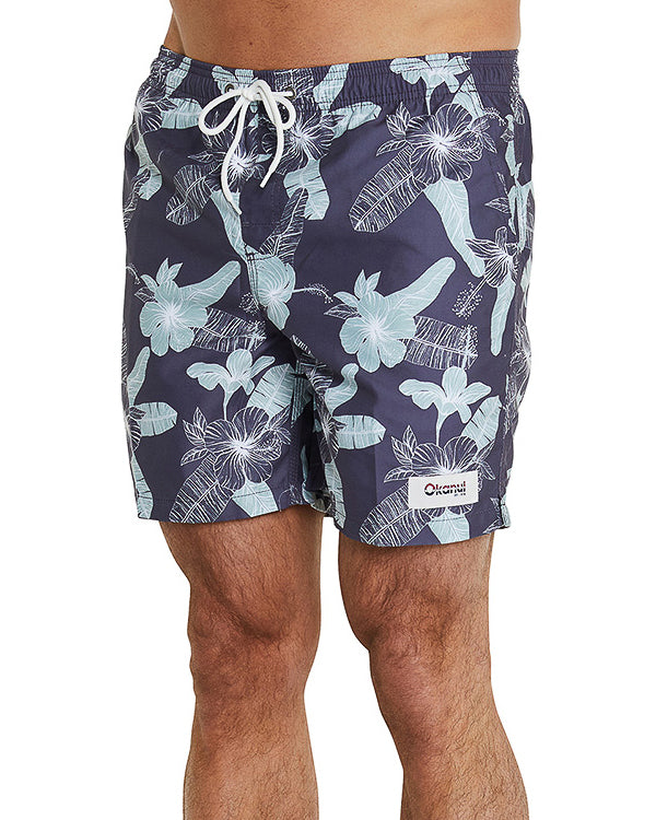 Swim Short - Fern Gully - Charcoal - 17""