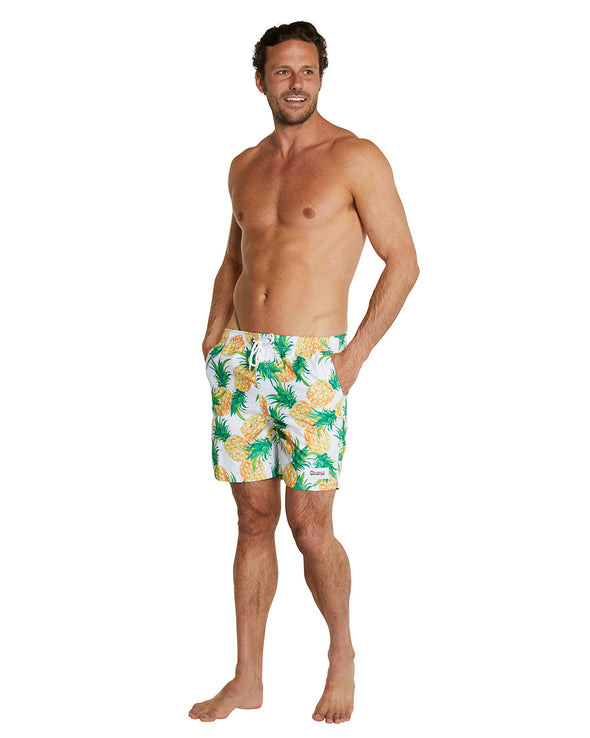 Swim Short - Vintage Pineapple - 17""