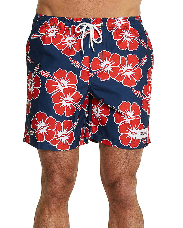 Swim Short - Way Back When - Navy - 17""