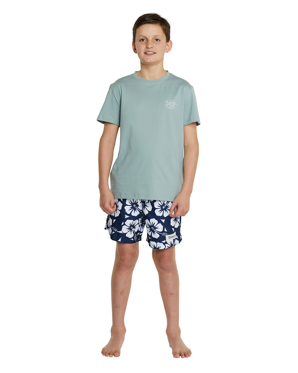 Kids T'S - Crashing Waves - Sage