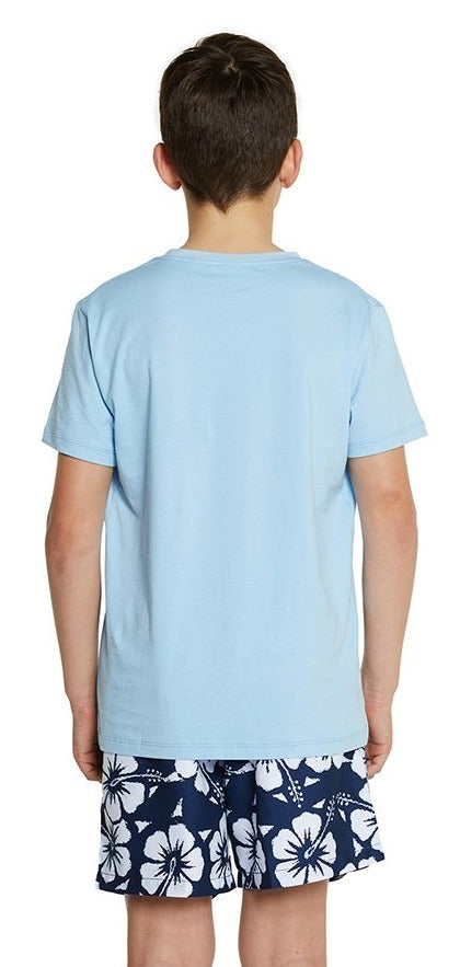 Kids T'S - Reef Tee - Light Blue
