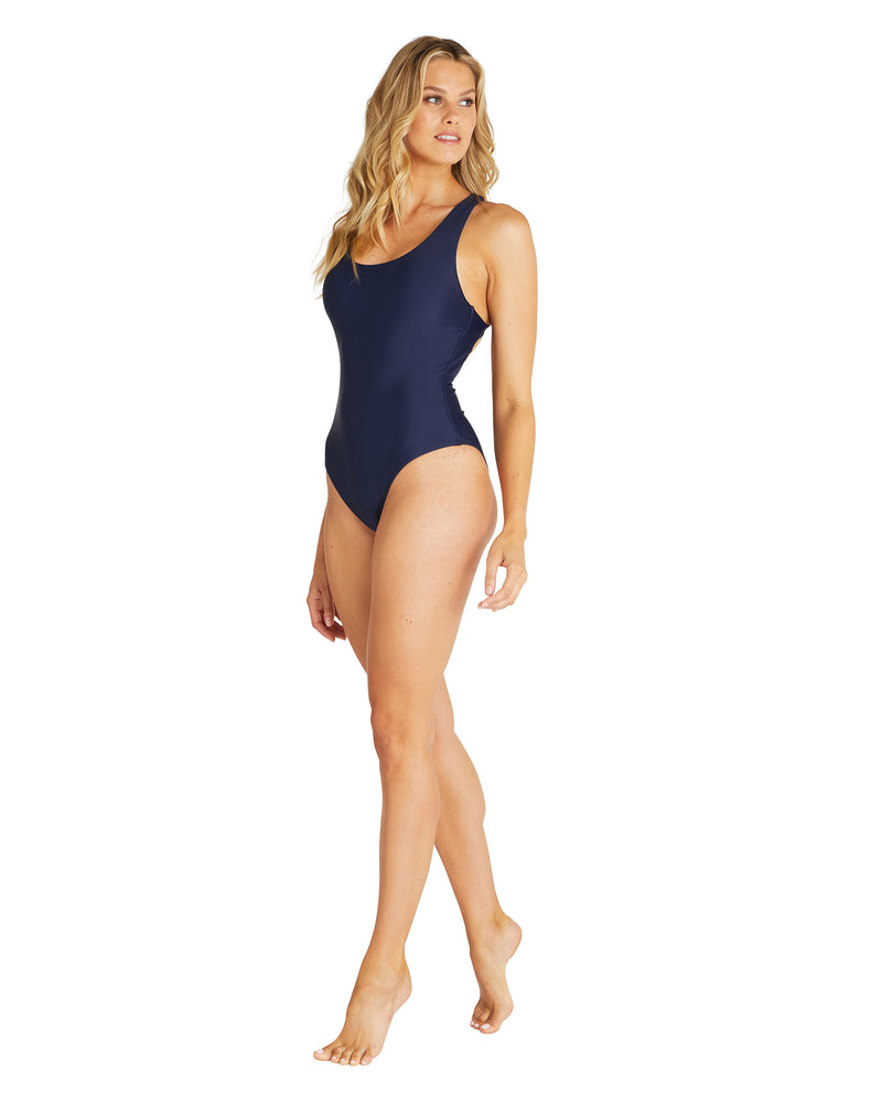 Womens Crossover One Piece - Navy