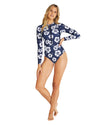 Womens Long Sleeve Suit - Hibiscus