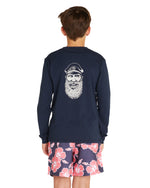 Kids L/S T's - Sailor - Navy
