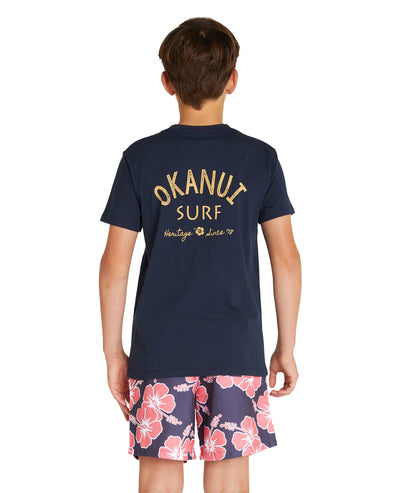 Kids - T's - Surf Club - Navy