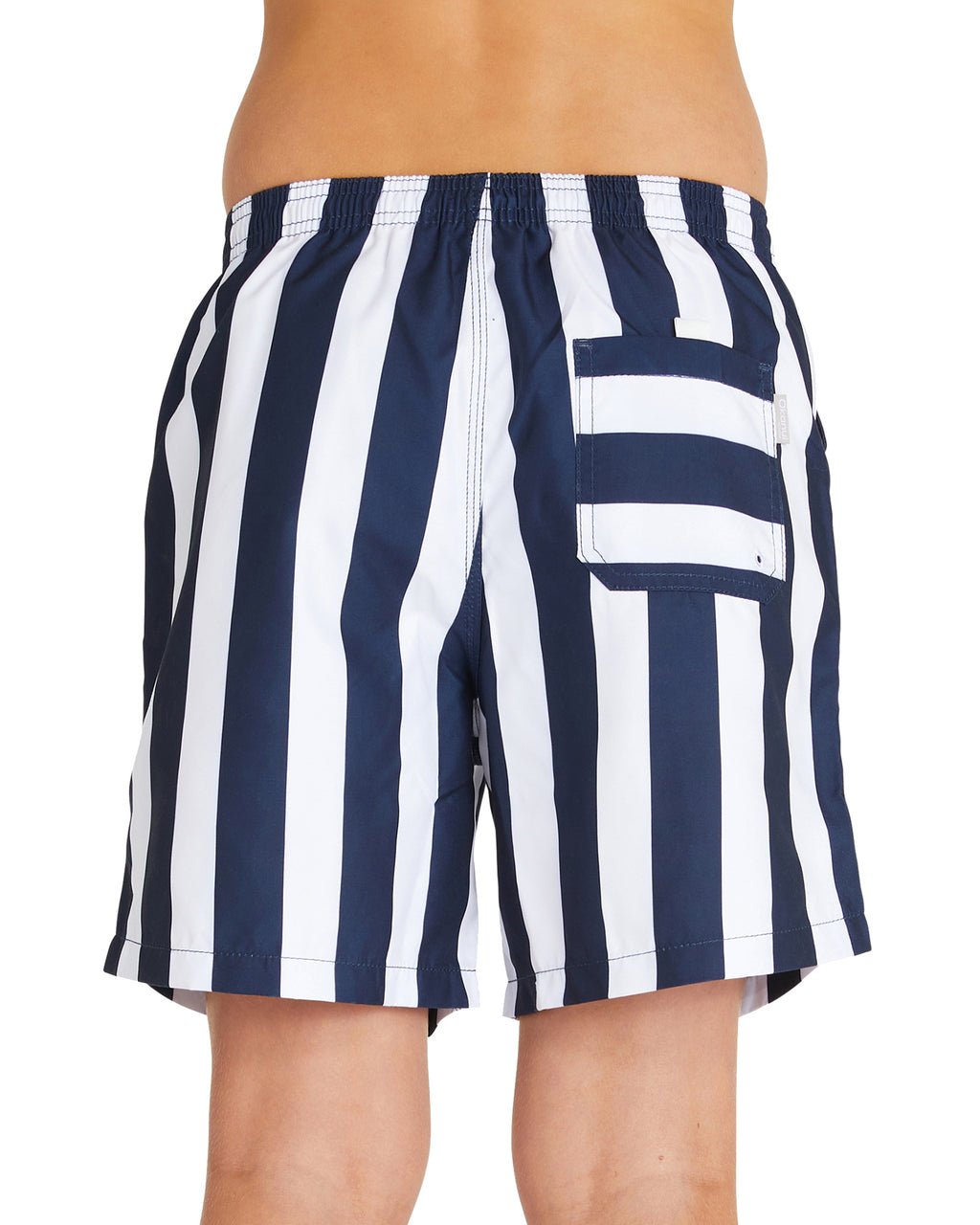 Kids Swim Short - Classic Stripe - Navy