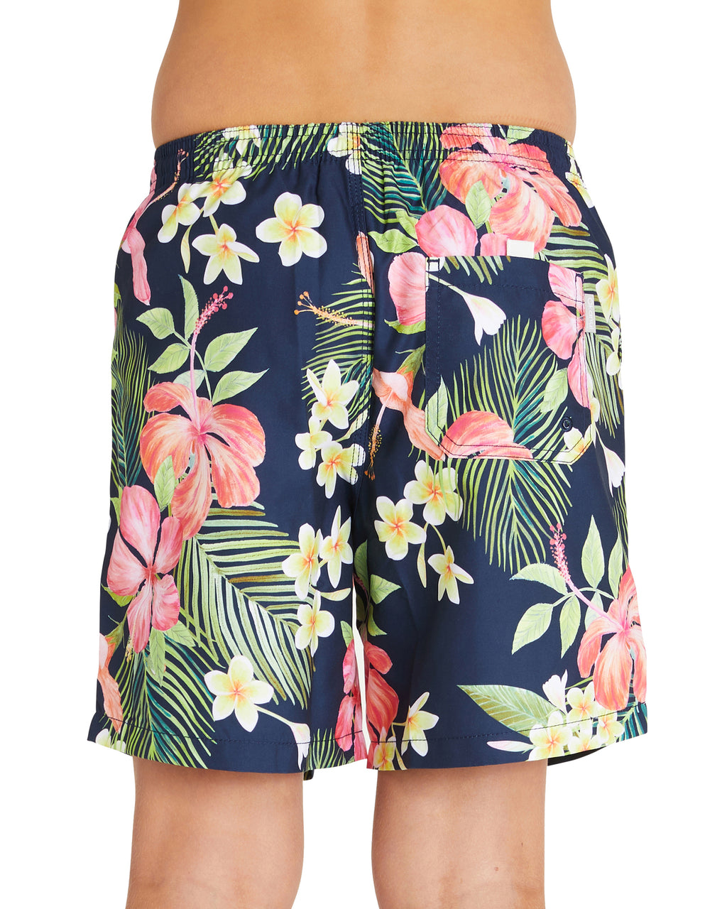 Kids Swim Short - Tropic Shores - Navy