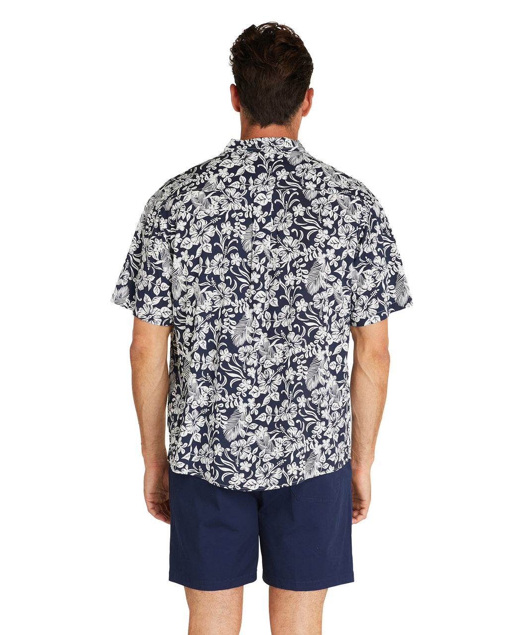 S/S Shirt - Sands - Navy - 100% Rayon