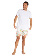 Swim Short - Tropic Shores - White