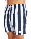 Swim Short - Classic Stripe - Navy