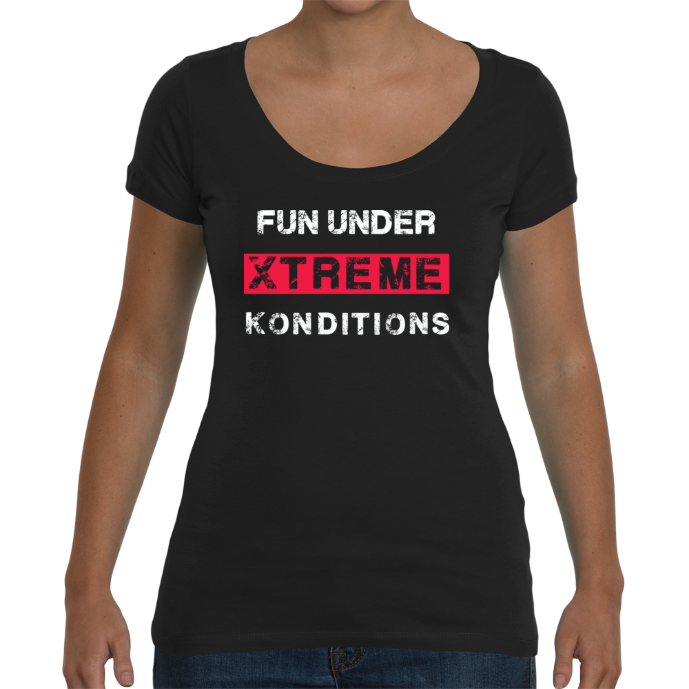 FUN Ladies Mid Scoop T