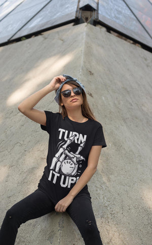 Girl with FuXk Gear UP211 t shirt