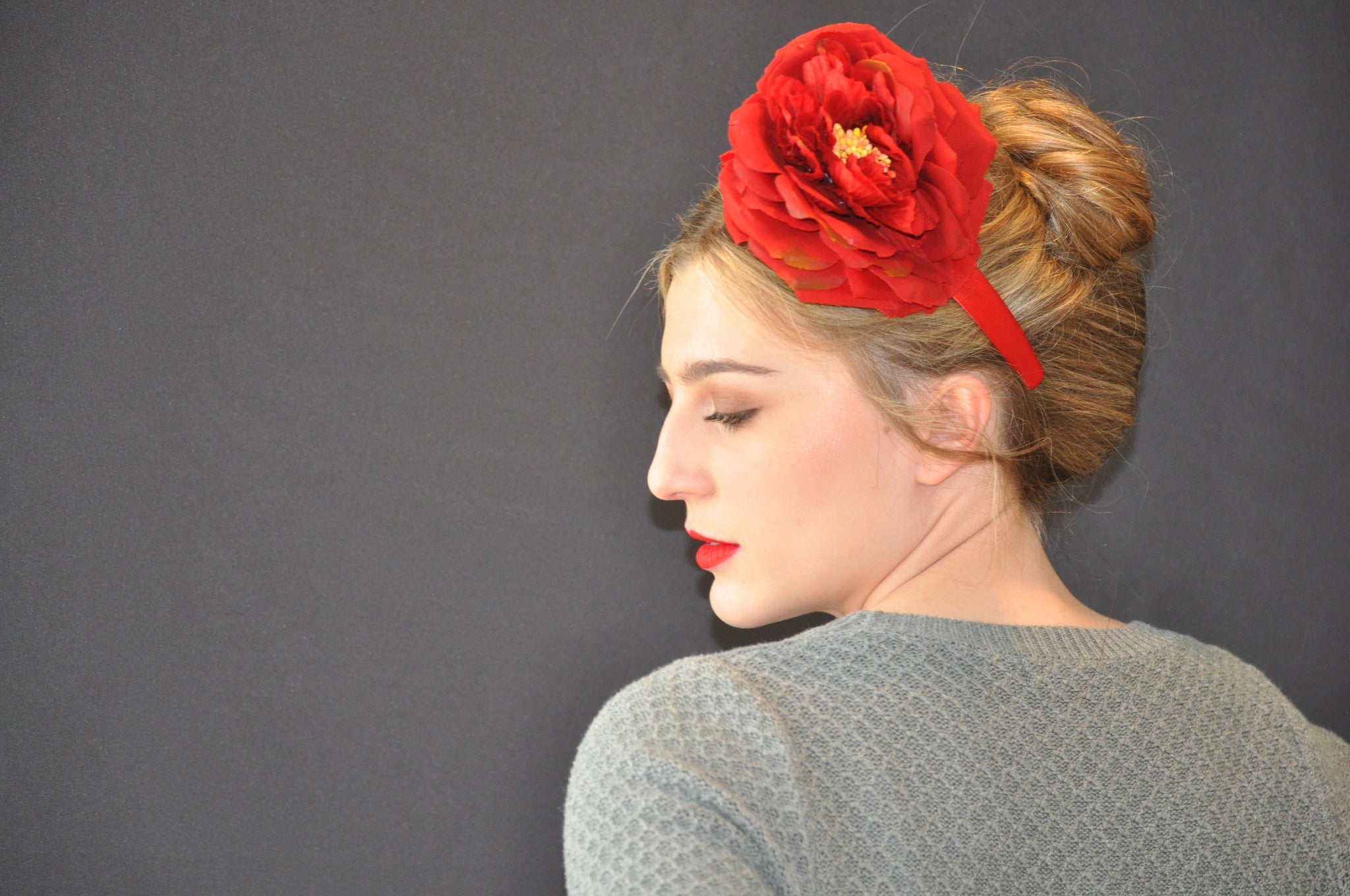 Red Rose Headband - Remi