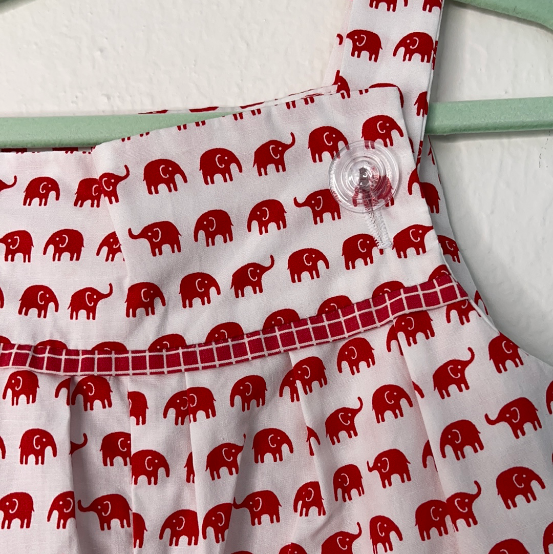 CopBaby Romper  Cotton red elephants 0 to 18 Months