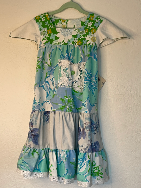 miss haidee vintage dress size 2 Glorious aqua blue