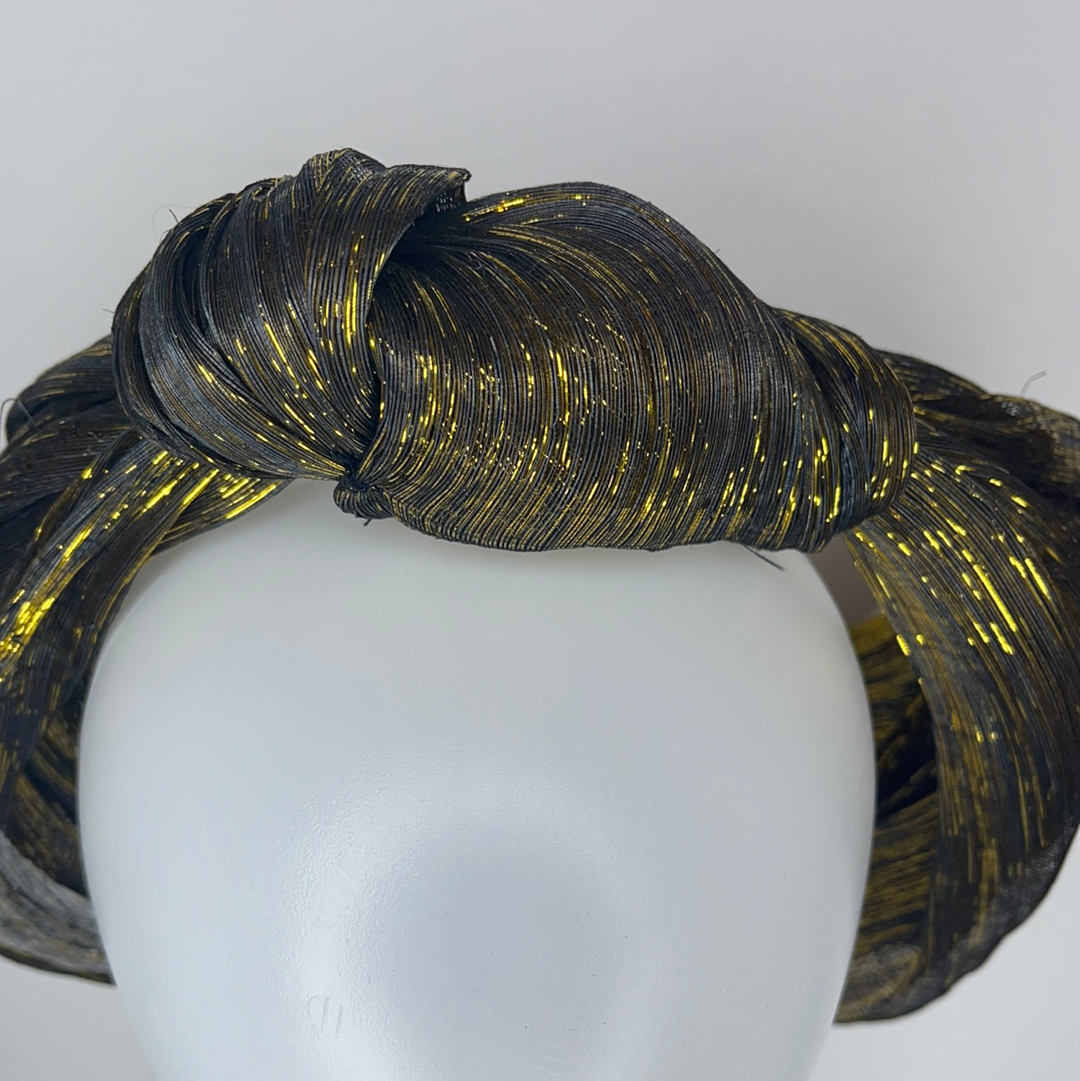 Gold silk turban
